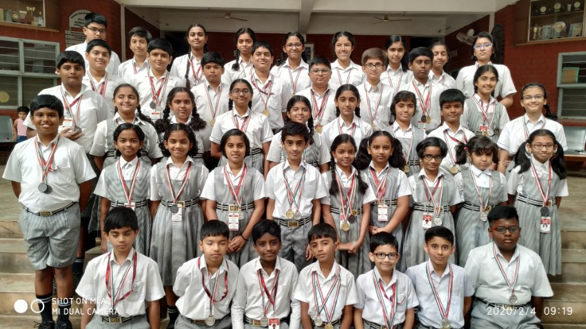 Winners in Science and English Olympiad